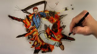 Just Cause 3 - Speed Drawing - Timelapse