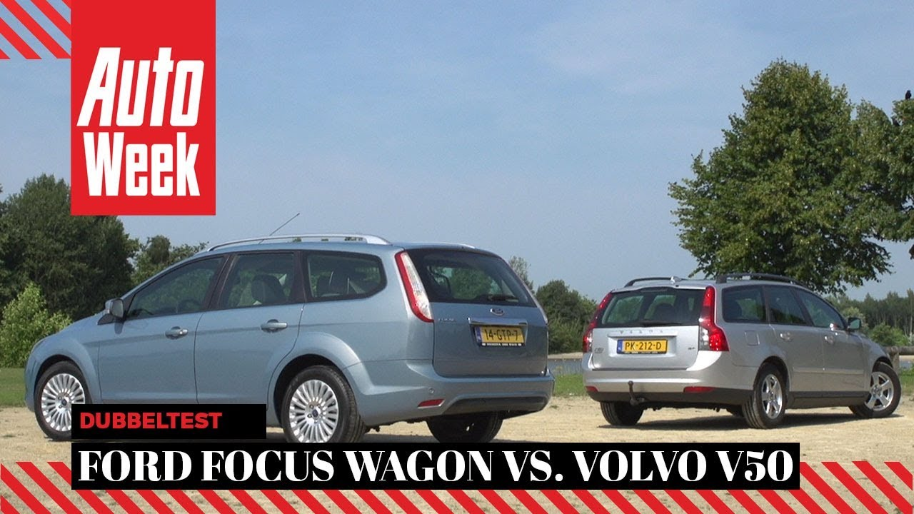 ford focus wagon vs volvo v50 occasion dubbeltest youtube. Black Bedroom Furniture Sets. Home Design Ideas