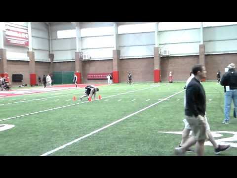Sam Brenner Pro Day 40 yard dash