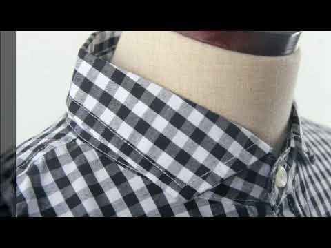 남녀공용 슬림핏 체크남방 셔츠 진스타일