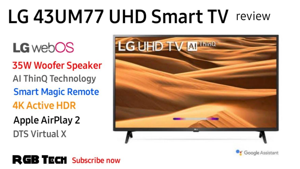 LG UHD 4K Smart LED TV 43inch | LG 43UM77 TV | Unboxing Review - YouTube