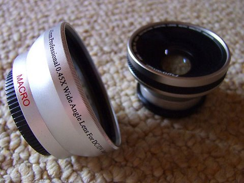 A Note About Cheap Wide-Angle Lense Adaptors For Camcorders