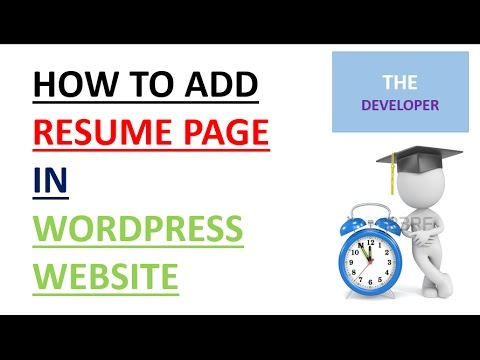 how to make resume page and link on menu 2017 youtube