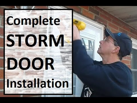 How to Install a Storm Door Start to Finish - EMCO 400 Series from HD