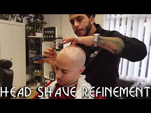 💈 Old school Barber - Head Shave Refinement - ASMR no talking
