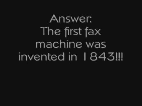 fax history when was the first fax machine invented youtube