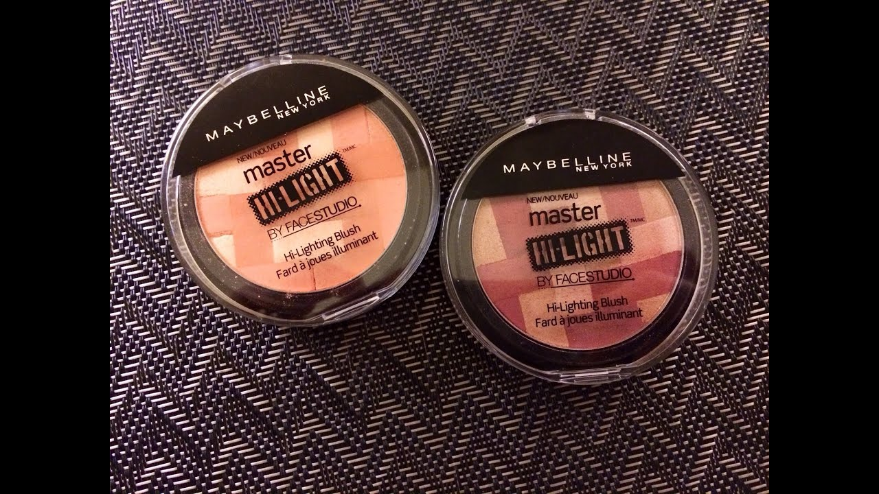 Review Maybelline Master Hi Light By Facestudio Lighting Blush In Mauve And C