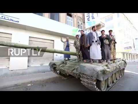 Yemen: Houthi fighters roam Sanaa streets with tanks and arms after Saleh's fall