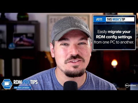 Easily migrate your RDM config settings from one PC to another - RDM Pro Tip 011