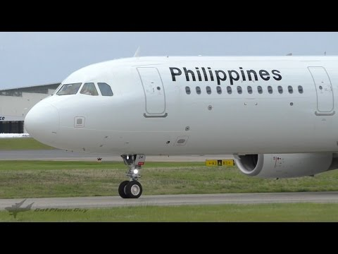 Philippine Airlines A321-231(WL) Takeoff at Brisbane Airport