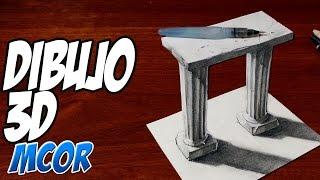 Columnas Griegas en 3D - Dibujo anamorfico