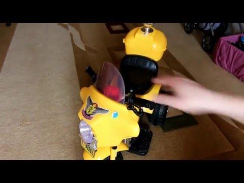 починка детского мотоцикла на аккумуляторе
