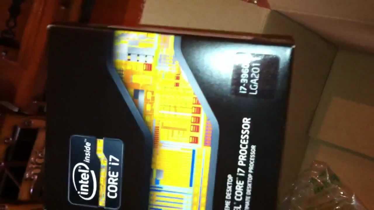 Intel LGA2011 Core I7 3960X Extreme Edition Unboxing