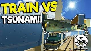 VTOL VS TRAIN VS TSUNAMI CRASH! - Stormworks: Build and Rescue Gameplay - Train Update
