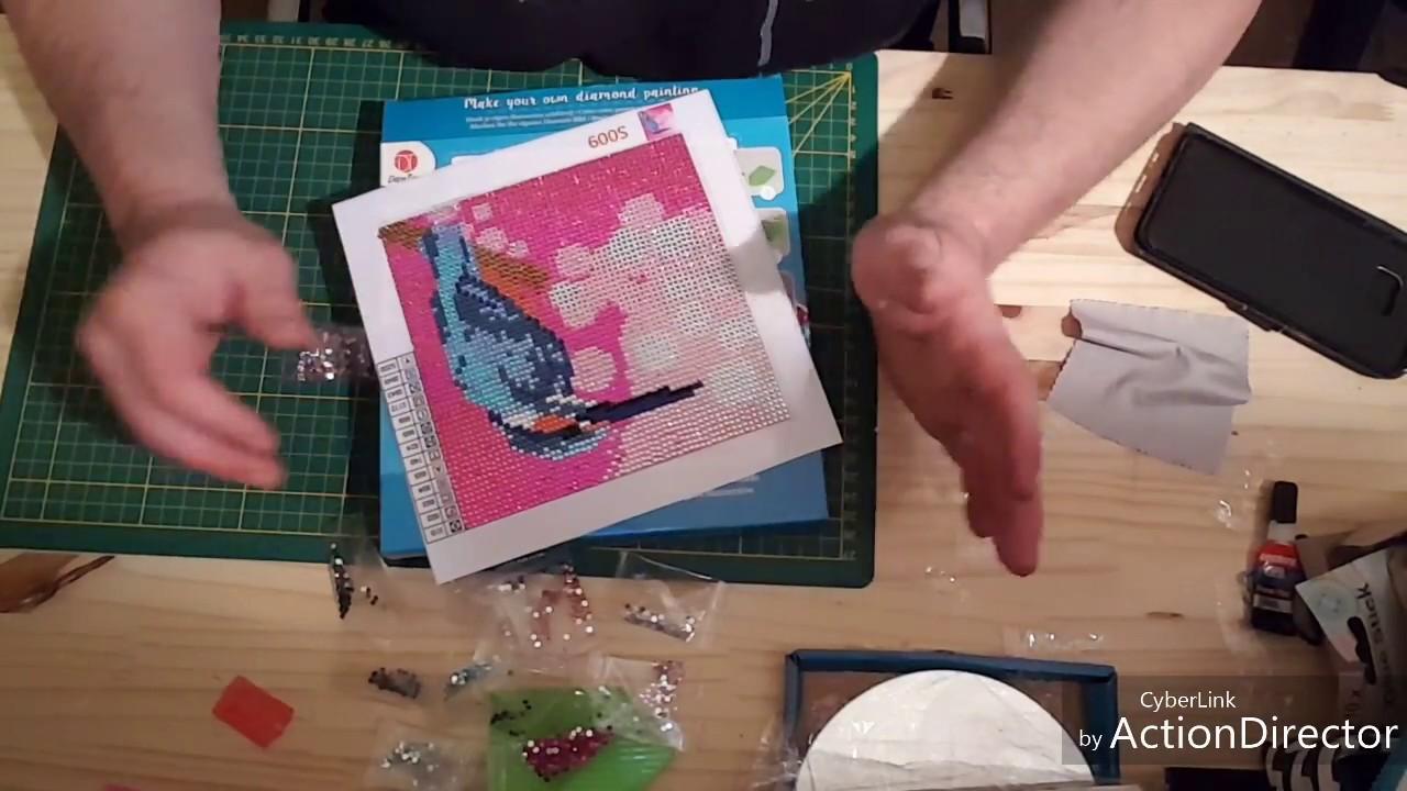 Diy Make Your Own Diamonds Painting De Chez Action Youtube