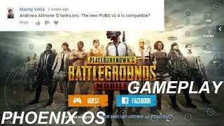 Phoenix OS PUBG Mobile Gameplay (Player Unknown BattleGrounds)