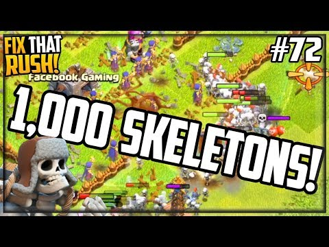 THOUSANDS Of Skeletons - 3,000 Free Gems! Clash Of Clans Fix That Rush #72