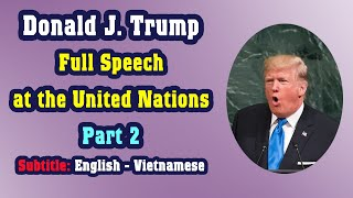 Learn English through the full speech by Donald Trump at the United Nations (Part 2)