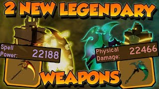 2 *NEW* BEST LEGENDARY WEAPONS!!! 22,000+ power!! - Roblox Dungeon Quest