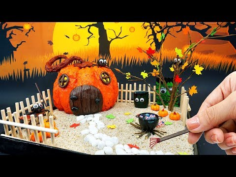 DIY MINIATURE DOLLHOUSE with Halloween Zen Garden