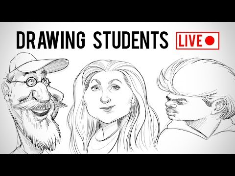 Drawing Proko Students - Live Memory Sketch Challenge
