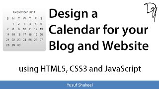 Design a Calendar for your Blog and Website using HTML5 CSS3 and JavaScript