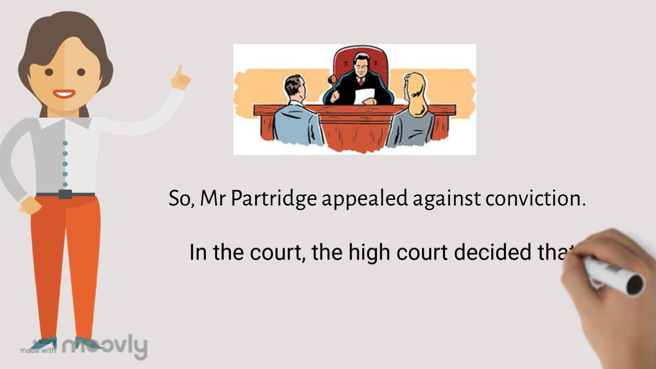 patridge v crittenden Abstract partridge v crittenden [1968] 1 wlr 1204 is an english law case law, which was heard by the divisional court of the queens bench division of the high court of england and wales on appeal from the magistrates court (england and wales) and is well-known (amongst other cases) for establishing the legal precedent in english contract law.