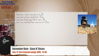 November Rain - Guns N' Roses Drums Backing Track with chords and lyrics