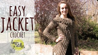 Tutorial Easy Crochet Jacket All Sizes Lanas Y Ovillos In English Youtube