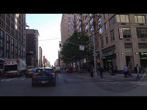 Driving by Chelsea in Manhattan,New York