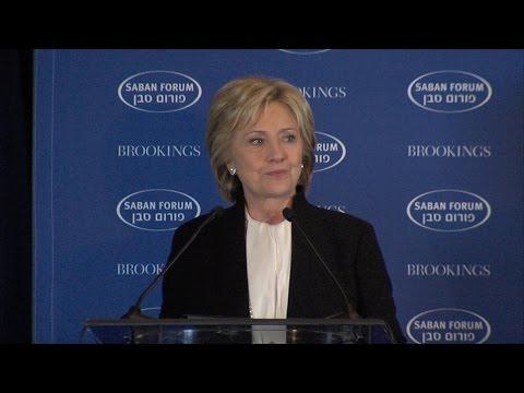 Saban Forum 2015: Former U.S. Secretary of State Hillary Rodham Clinton