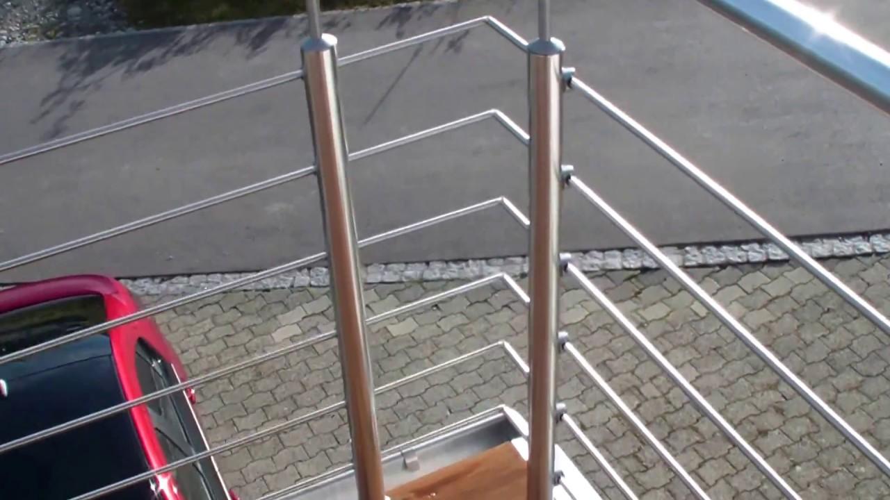 balkon geländer - selber montieren - 1000 euro sparen - youtube