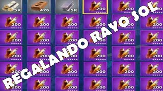 GIFTING WEAPONS 130 AND RAYO SOL TO MONTON!! / FORTNITE SAVE THE WORLD
