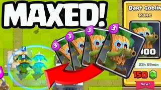Clash Royale NEW CARD - Dart Goblin MAXED OUT!