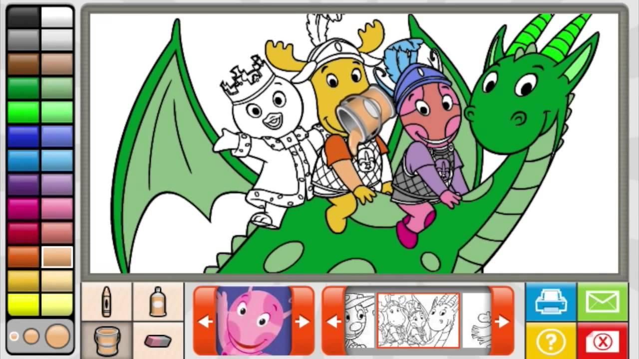 The Backyardigans Coloring Book Full Game 2014