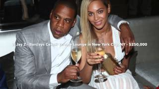 TOP TEN MOST EXPENSIVE CELEBRITY BAR TABS 2014