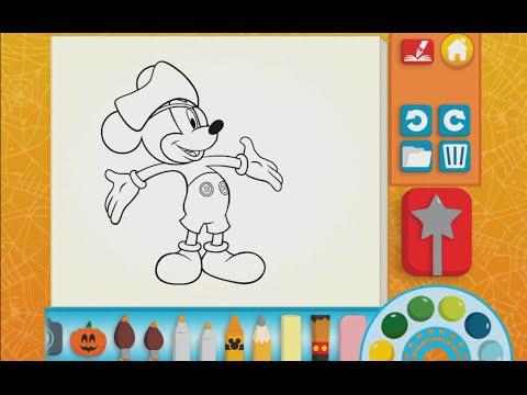 Mickey Mouse Color And Play Clup House Paint 3D Disney Junior Animated Coloring Book PART 2