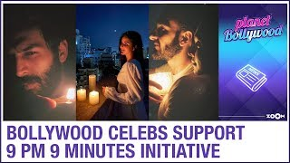 Bollywood celebrities light candles and Diyas for supporting 9 PM 9 minutes initiative by PM Modi