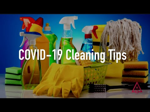 COVID-19 Cleaning and Disinfecting Guidelines - YouTube