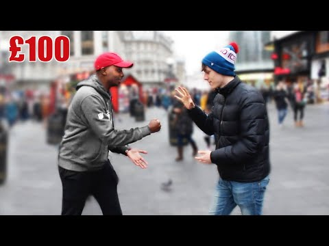 Giving £100 To Strangers If They Win at Rock Paper Scissors