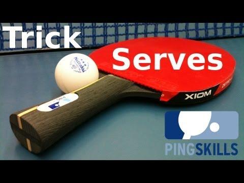Table Tennis Trick Serves by PingSkills - Yeesss!