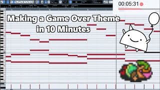 Attempting to Make a Game Over Theme in 10 Minutes || Shady Cicada