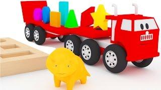 Lerne Formen mit Spielzeug und Dino dem Dinosaurier | Lehrreiche Cartoons für Kinder und Kleinkinder