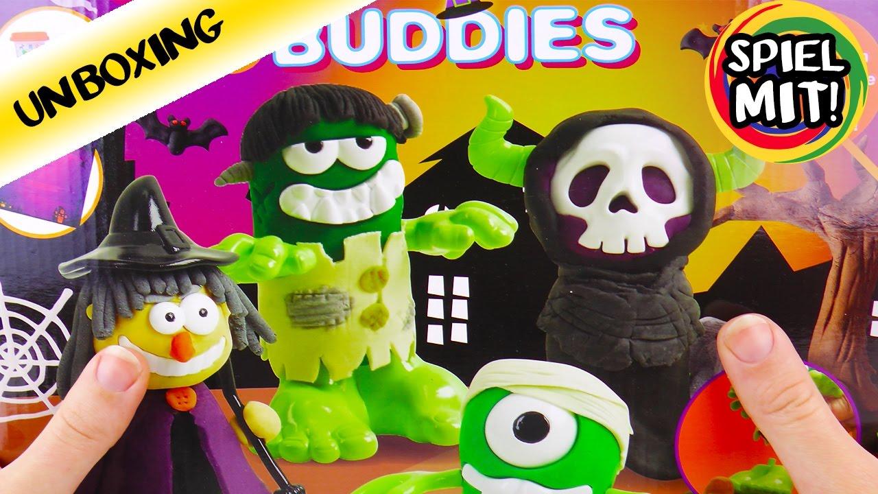 gruselige knet monster zombie hexe k rbis und mumie aus knete selber machen unboxing youtube. Black Bedroom Furniture Sets. Home Design Ideas