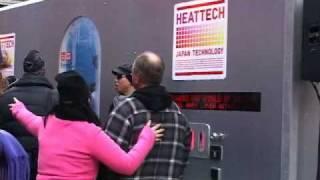 Body Scan Stunt Promotes Thermal Underwear