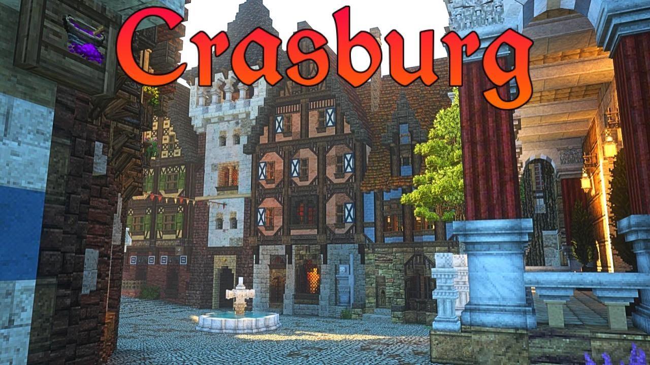 Medieval Townsquare   Crasburg   Episode 86 - Medieval Minecraft City Building