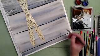 Part 1 Painting Antique Skis and Barn Board with Watercolor