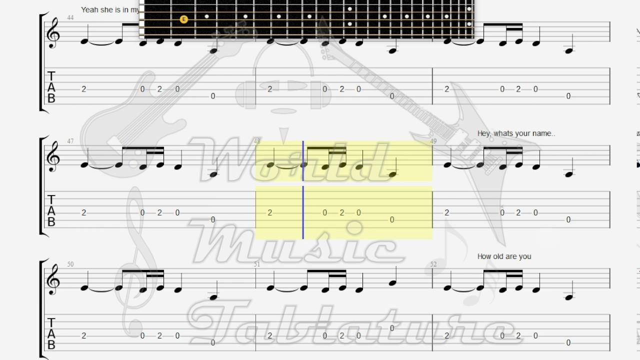 Doors The Gloria GUITAR 1 TAB  sc 1 st  YouTube & Doors The Gloria GUITAR 1 TAB - YouTube