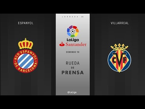 Rueda de prensa Espanyol vs Villarreal