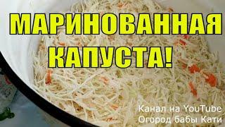 Маринованная капуста!  Как замариновать капусту! Маринованная капуста быстрого приготовления!